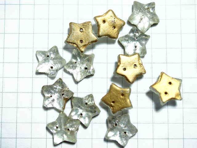 CS439SD 10mm グラスカボション 星 2穴付