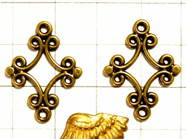 MF569FM コネクター 2カン ダイヤ型 真鍮古美
