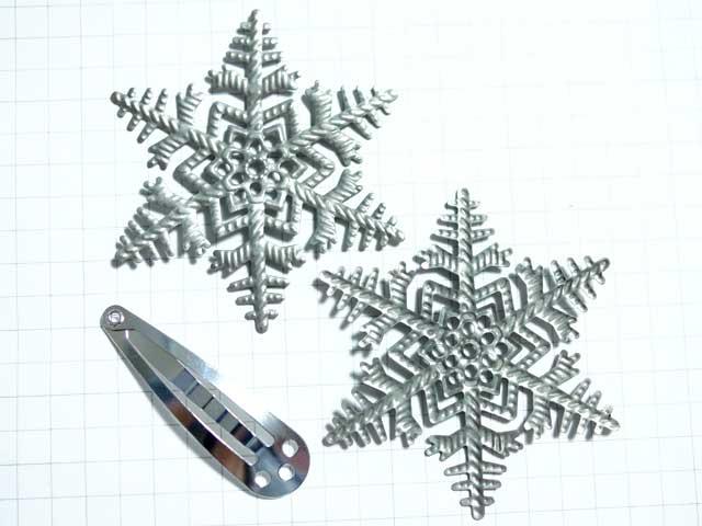 MS316FM スタンピング 雪の結晶 薄型 銀